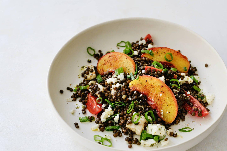Belugalinsen Salat