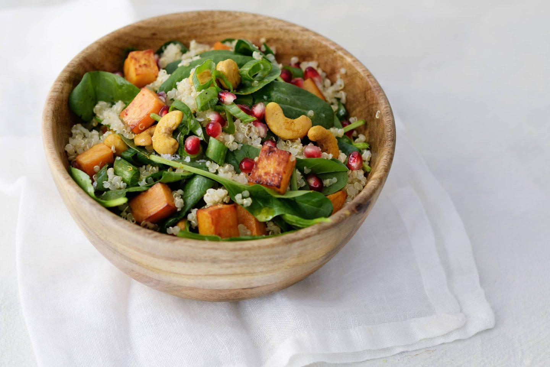 Quinoa Spinat Salat