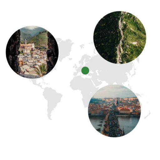 Ursprungsgebiet von Kerbel auf der Weltkarte: naher Osten