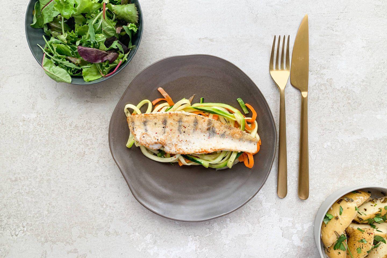 Zander Fillet Vegetables Spirals Website