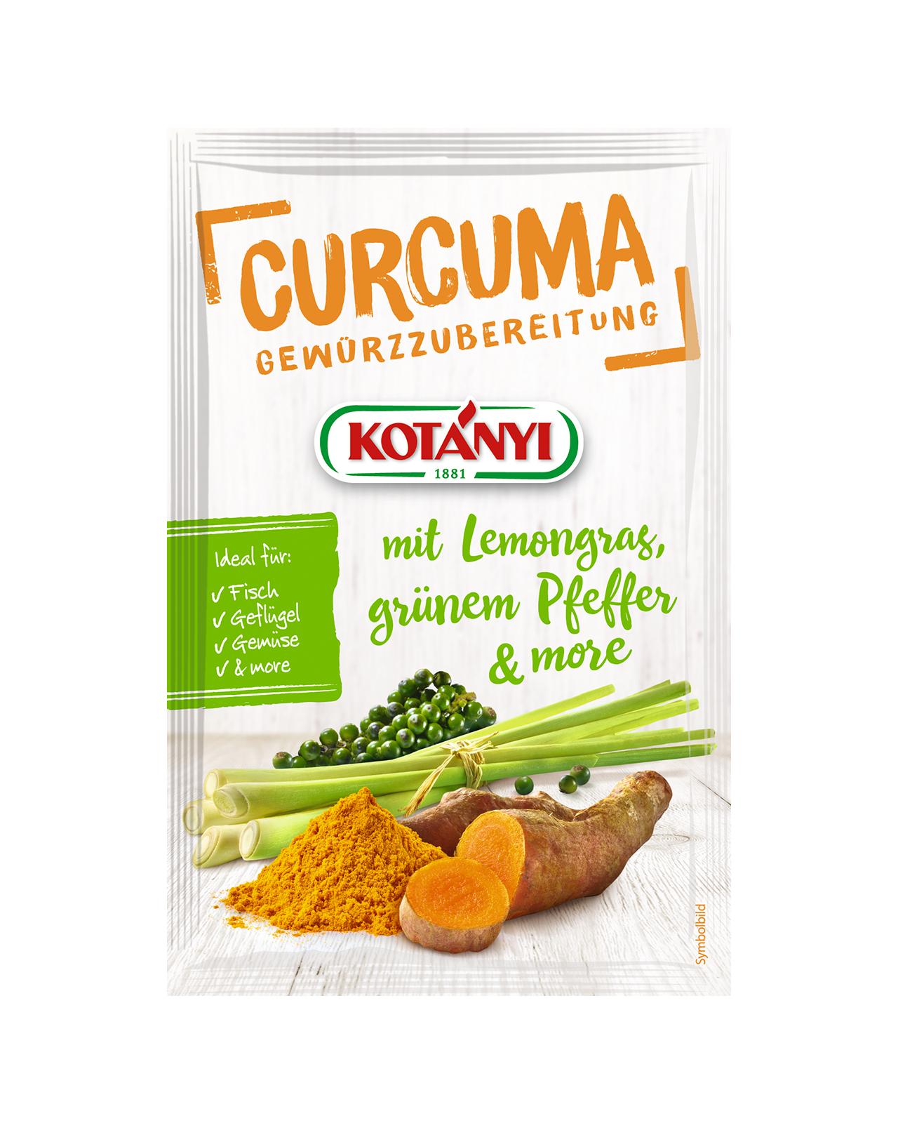 356701 Kotanyi Куркума с пипер и лимонова трева B2c Pouch