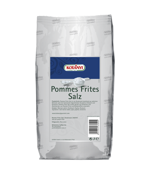 858701 Kotanyi Ароматна сол за пържени картофки B2b Bag1kg