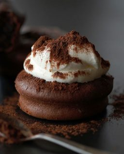 cake with whipped cream an Cinnamon topping