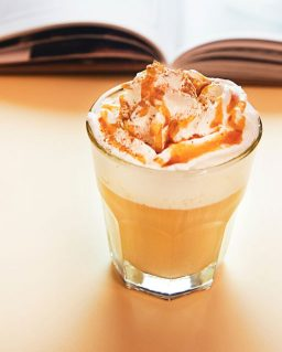 cappuccino with caramel topping