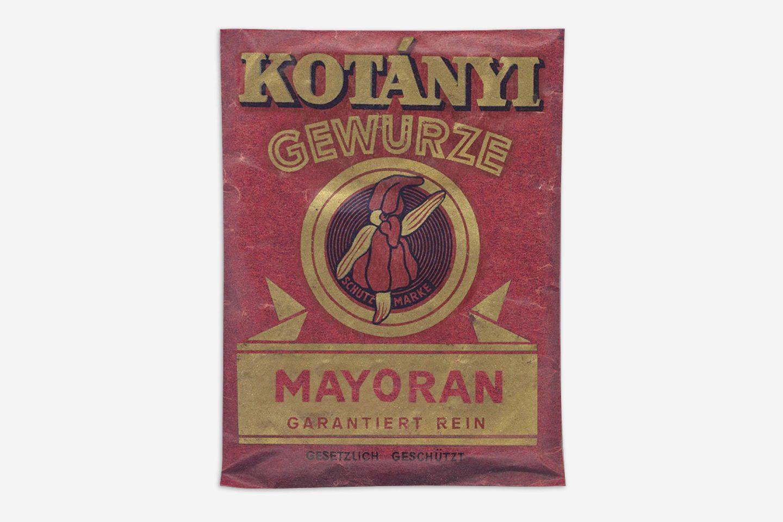 Пликче с майорана Kotányi от 1900 г.