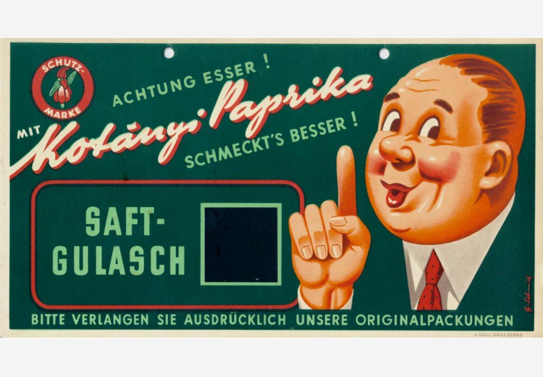 Рекламен знак на Kotányi от 50-те години на миналия век.
