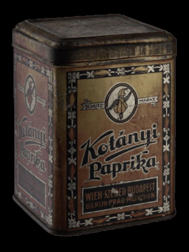 Опаковки за подправки Kotányi от 1896 г.