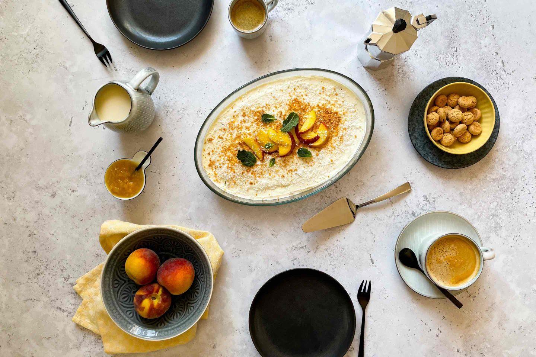 рецепта за тирамису с праскови